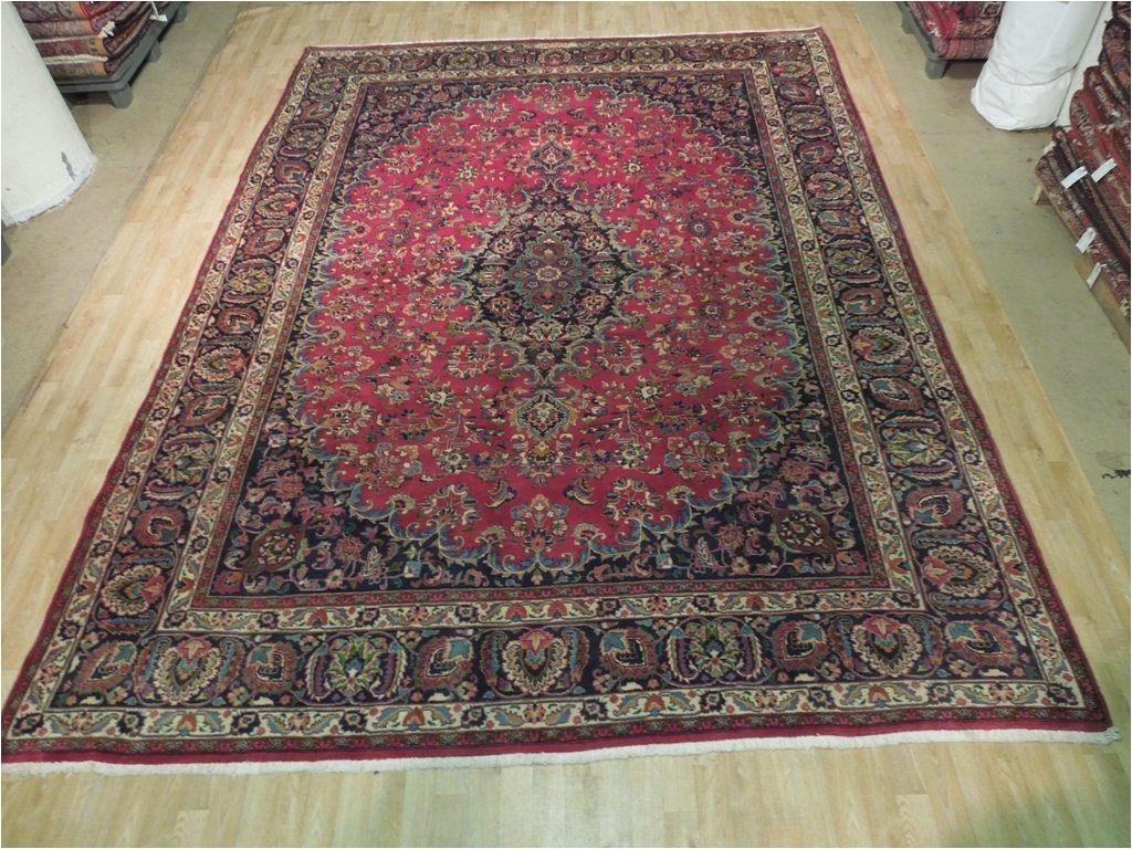 original signed 10 x 13 persian kashan rug iran traditional handmade