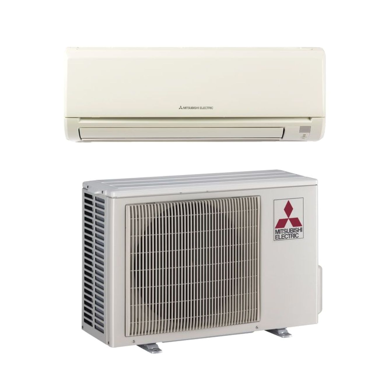 mitsubishi mz ge12na 12 000 btu 22 7 seer mr slim wall mount ductless mini split air conditioner heat pump 208 230v