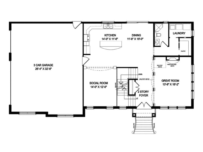 16×20 2 Story House Plans Single Level Floor Plans Luxury 2 Story Open Floor Plan