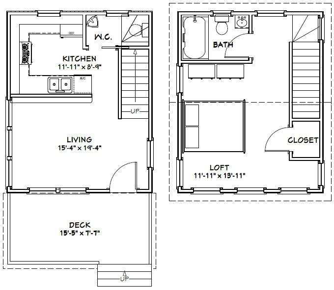 16×20 House Floor Plans 16×20 House 16x20h3 569 Sq Ft Excellent Floor