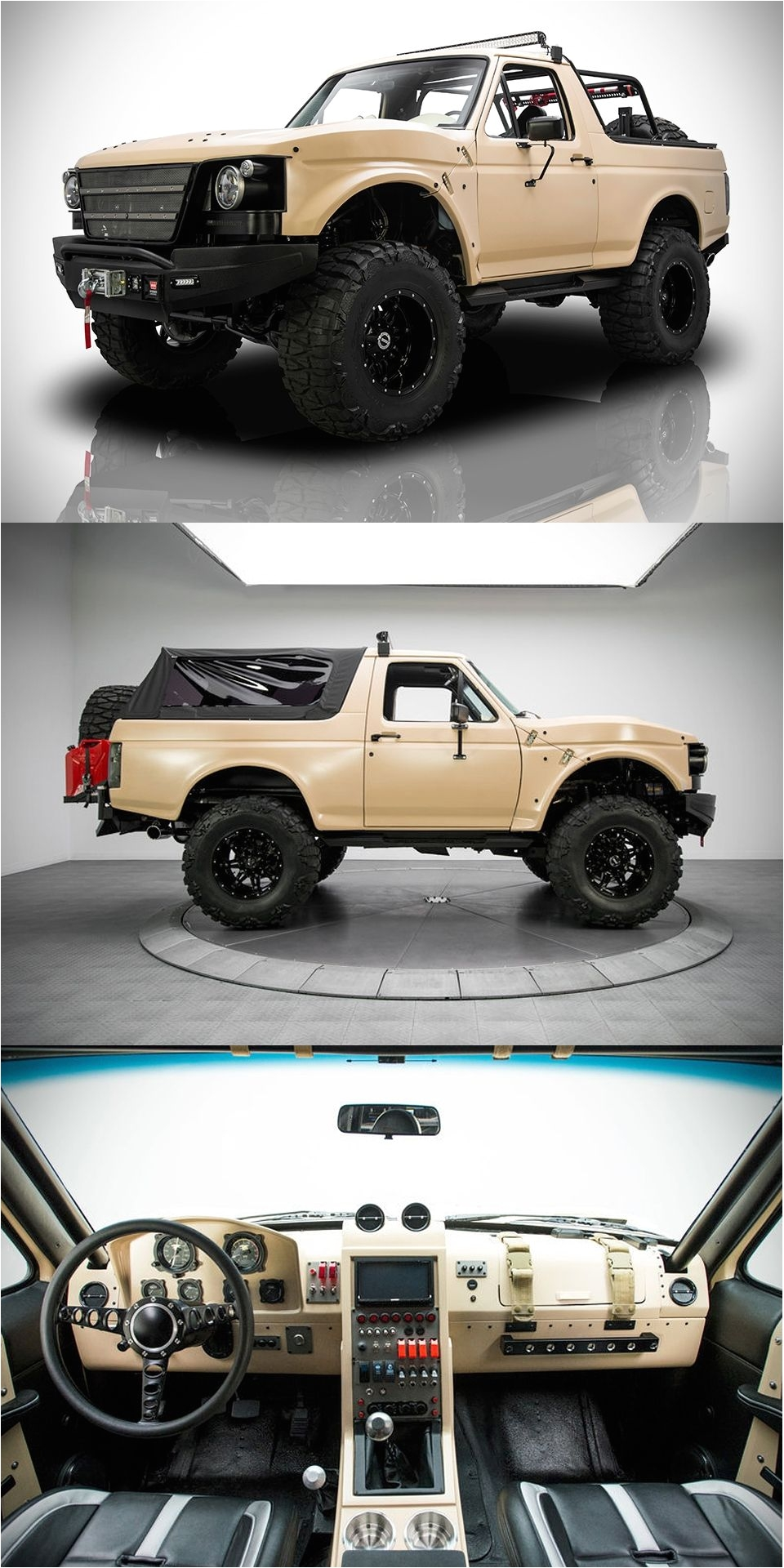 1991 ford bronco project fearless custom automobile inside looks like a cockpit nice customization american cars and trucks diy