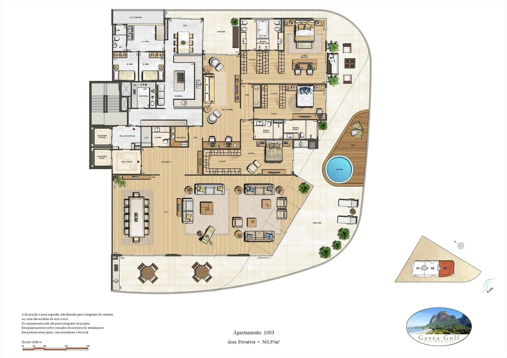 gavea green residencial penthouse 563ma sa o conrado rio de janeiro brascan