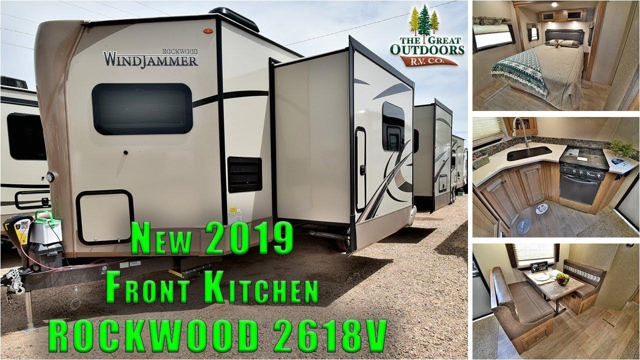 new 2019 rockwood 2618v front kitchen rear bedroom camper rv travel trailer colorado dealer