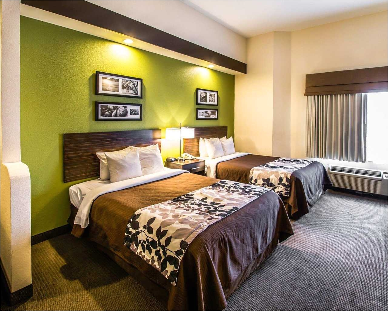 sleep inn orlando airport double beds 1