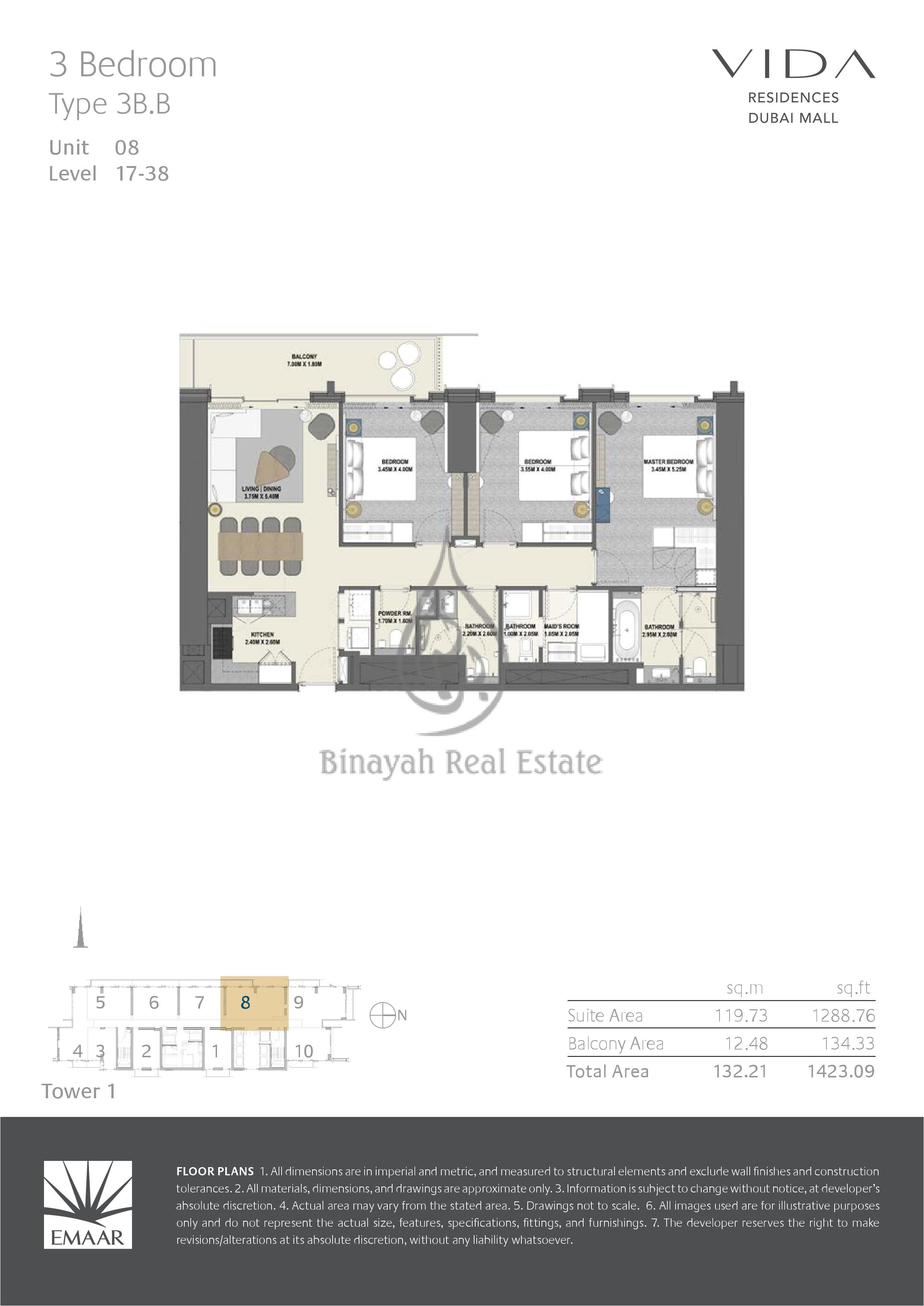3 bedroom rv floor plan vida residences dubai mall 2 bed type 2b f floor plan