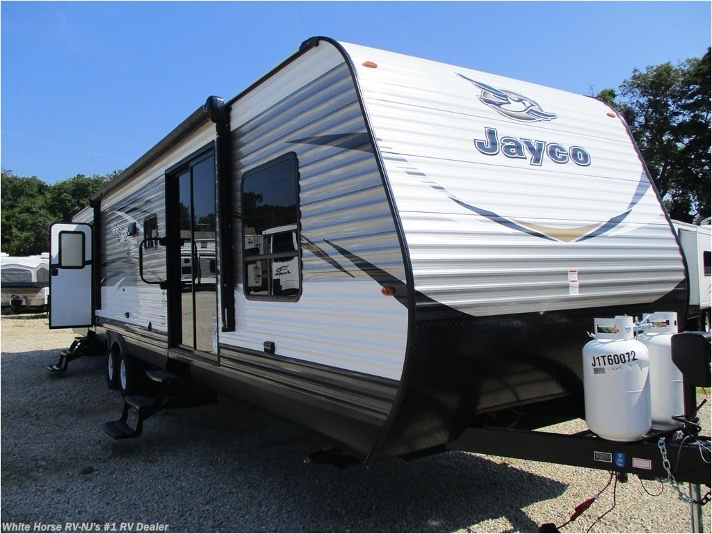 new 2018 jayco jay flight 38bhds 2 bdrm double slide front bunks dinette for