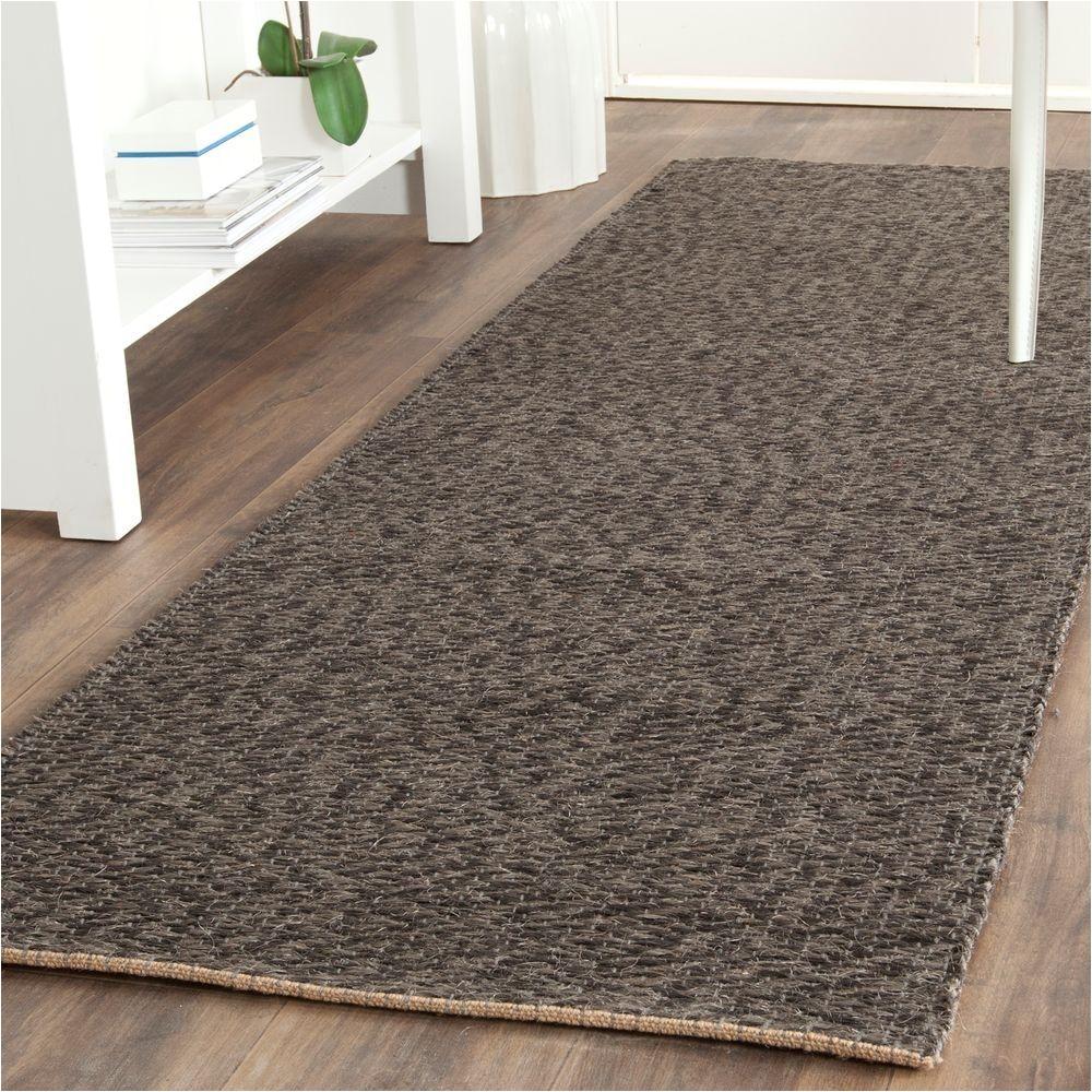 natural fiber grey 2 ft 6 in x 12 ft runner rug