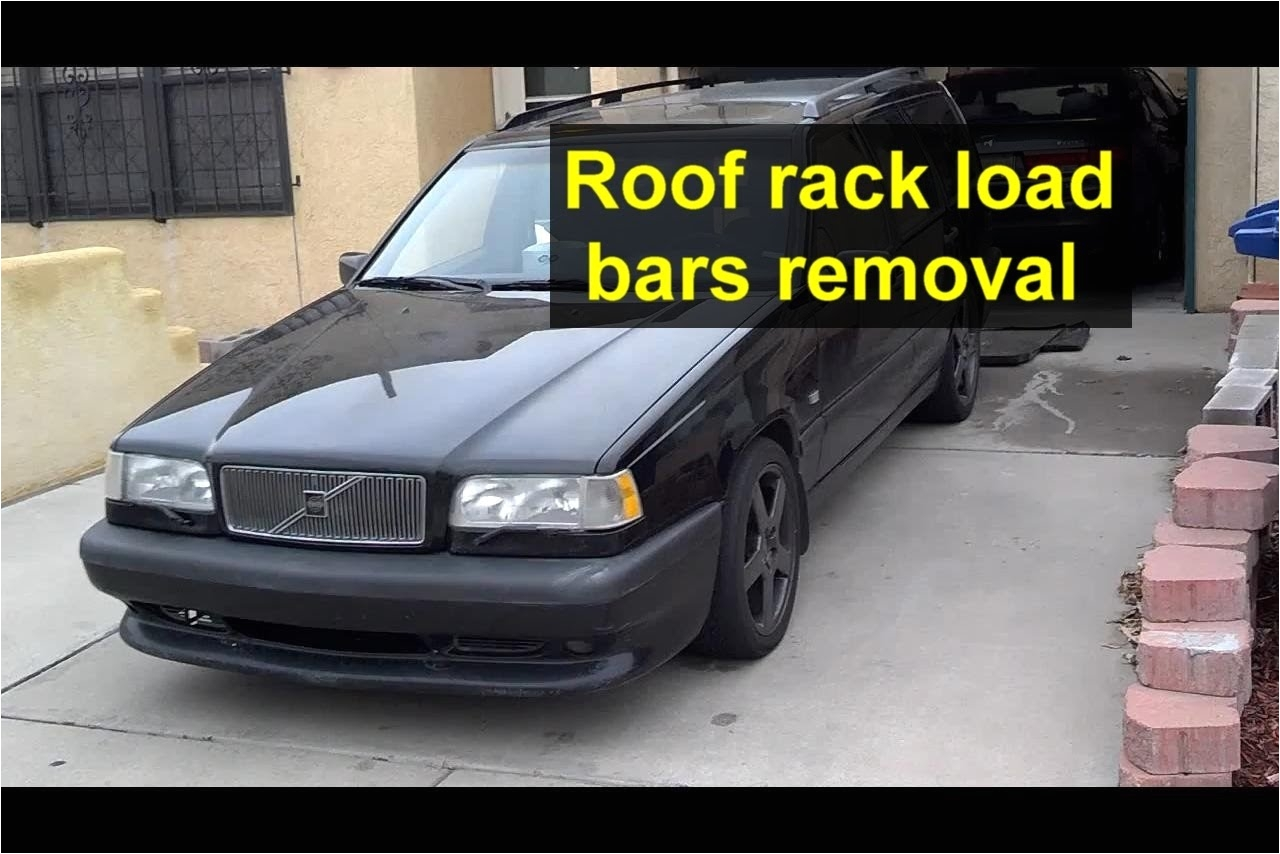 roof rack rail cross load bars removal volvo v70 xc70 850 etc auto repair series youtube