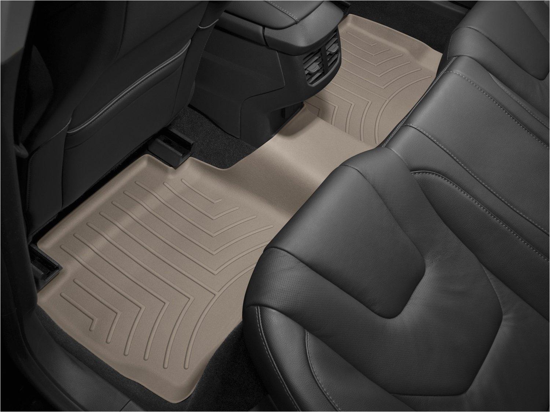 amazon com weathertech custom fit rear floorliner for ford f250 super duty crew tan automotive