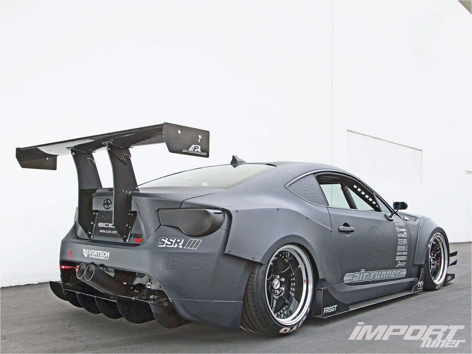 03 2013 scion fr s apr carbon fiber rear spoiler