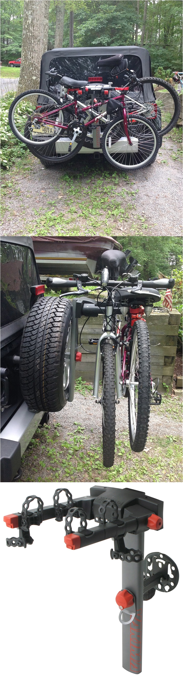 securely mount this bike rack to the spare tire of the jeep wrangler transport 2 bikes to your biking destination with maximum bike protection and