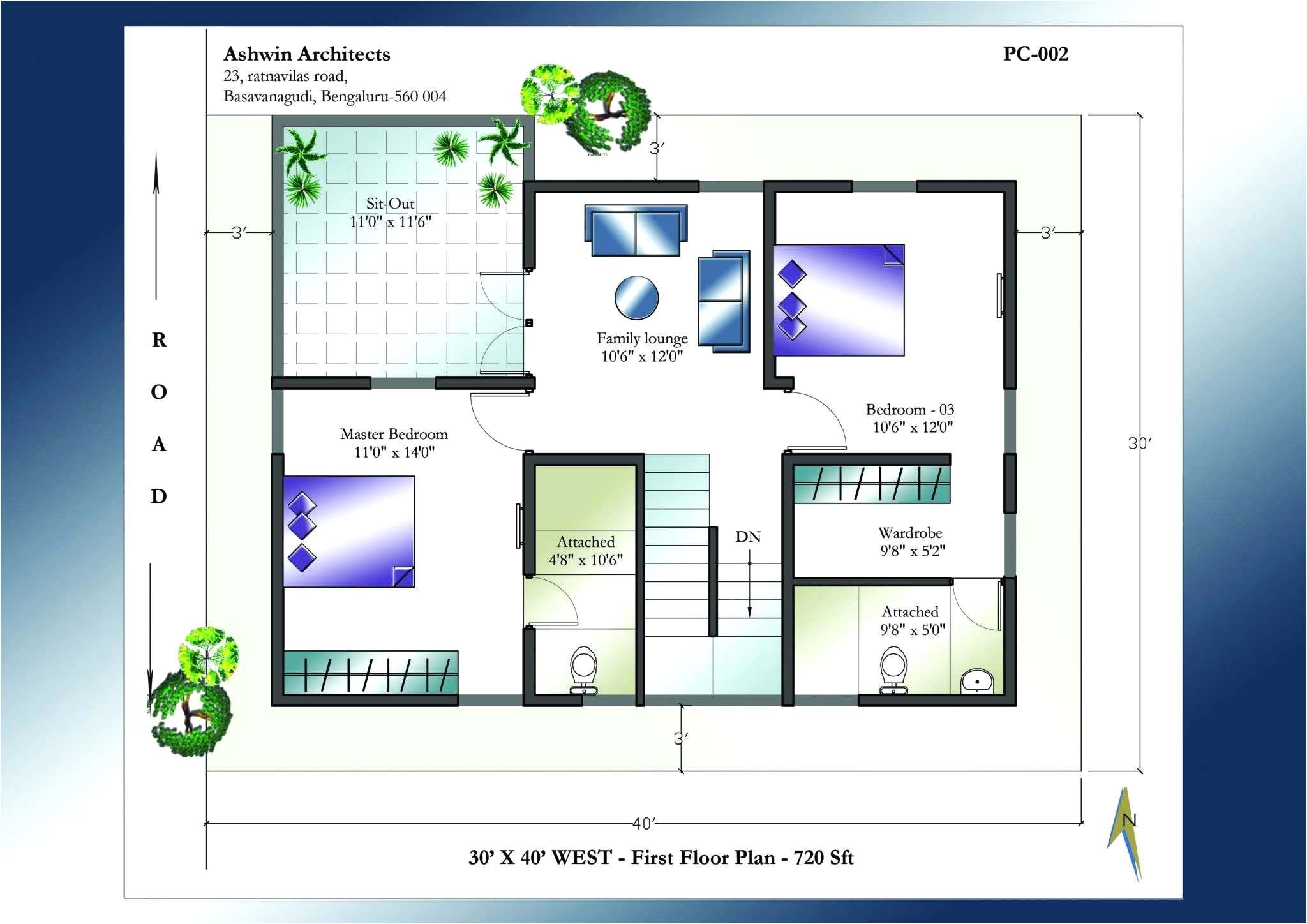 20x40 House Plans North Facing Bradshomefurnishings