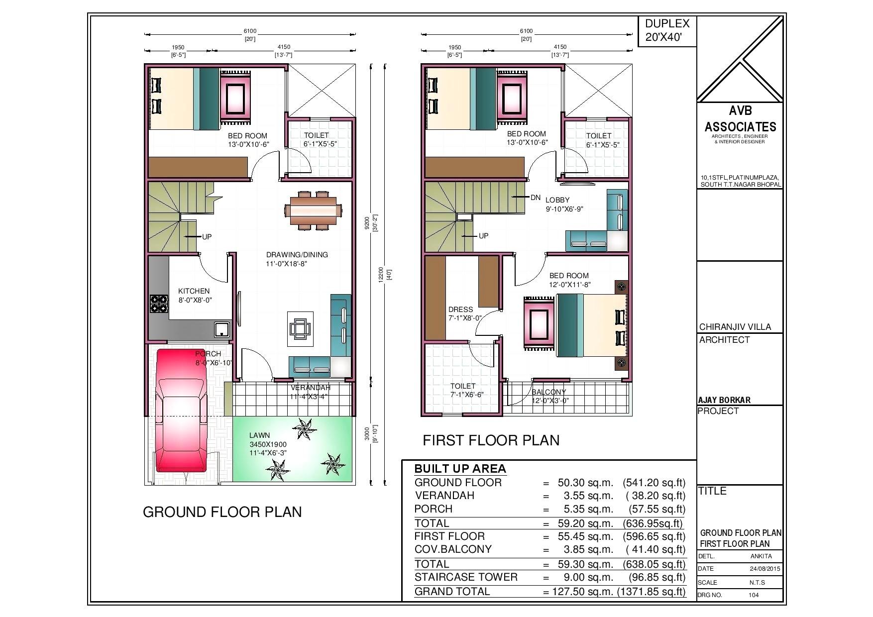 2040 House Plans North Facing Plot Plans Online Design 20 X 50 Size