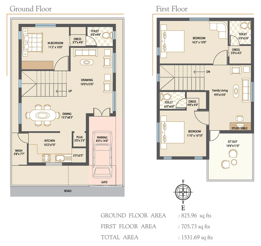 20×40 House Plans south Facing 5 Room House Plan Pdf Fresh