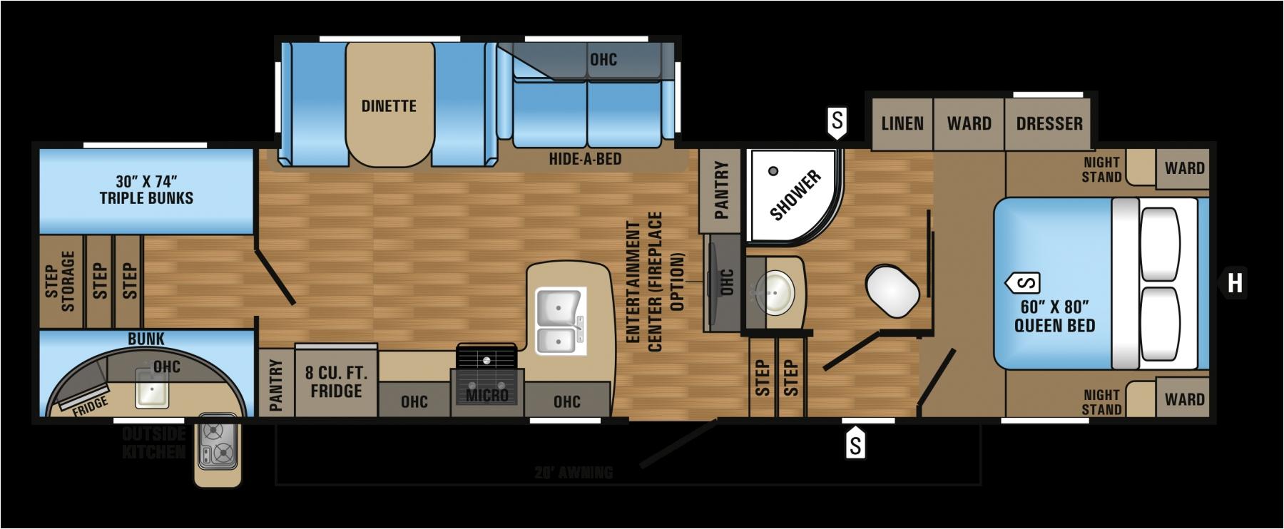 3 bedroom rv floor plan 5th wheel camper floor plans 2017 eagle ht fifth wheel floorplans amp