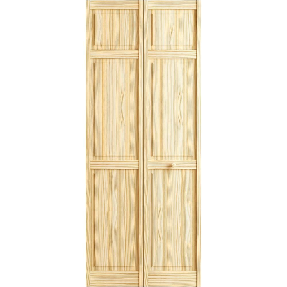 36 In. X 96 In. Interior Closet Bi-fold Door Veranda 24 In X 78 In Raw 6 Panel Pine Interior Closet Bi Fold