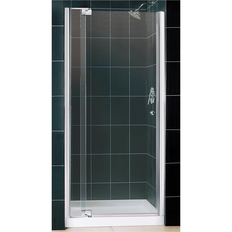 dreamline allure frameless pivot shower door and slimline 36 x 36 inch single threshold shower