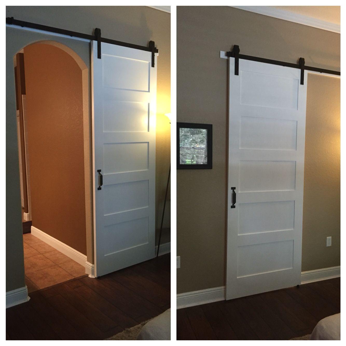 modern barn door for arched doorway
