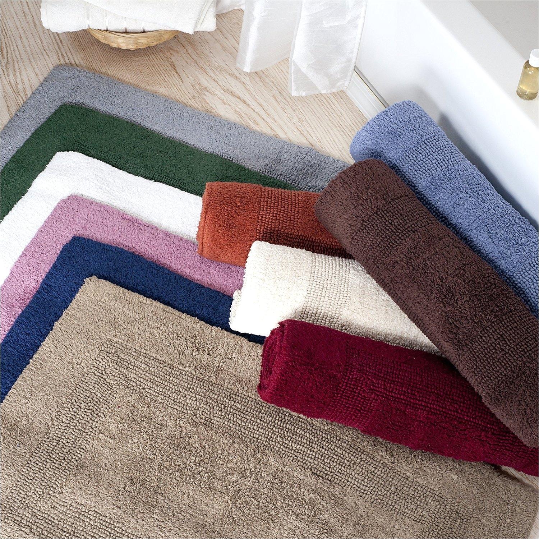 macys bathroom rugs pink b0116qy5ts amazon com lavish home cotton reversible long bath rug white 24x60