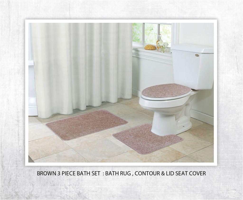 kashi home layla 3 piece bath rug set color orange