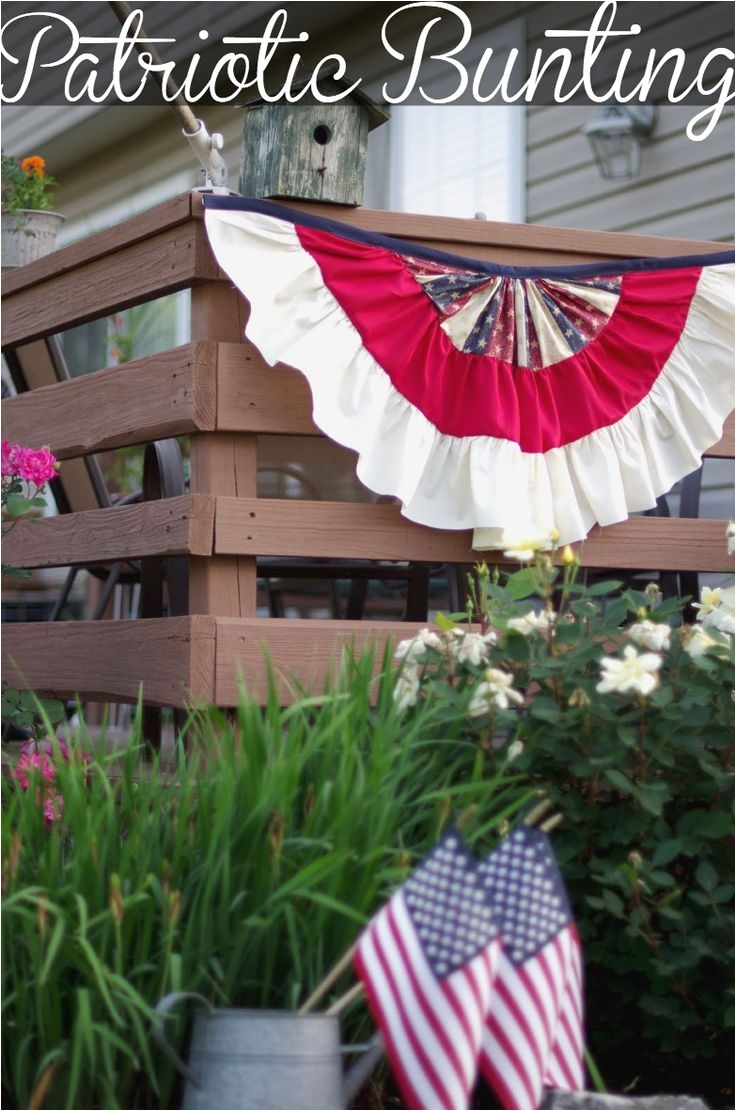 easy to make patriotic bunting patriotic buntingpatriotic party4th of july decorationsfourth