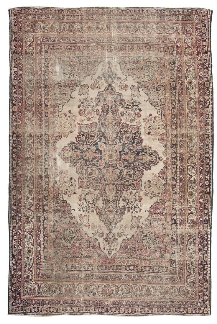 persian ravar kerman antique rugs