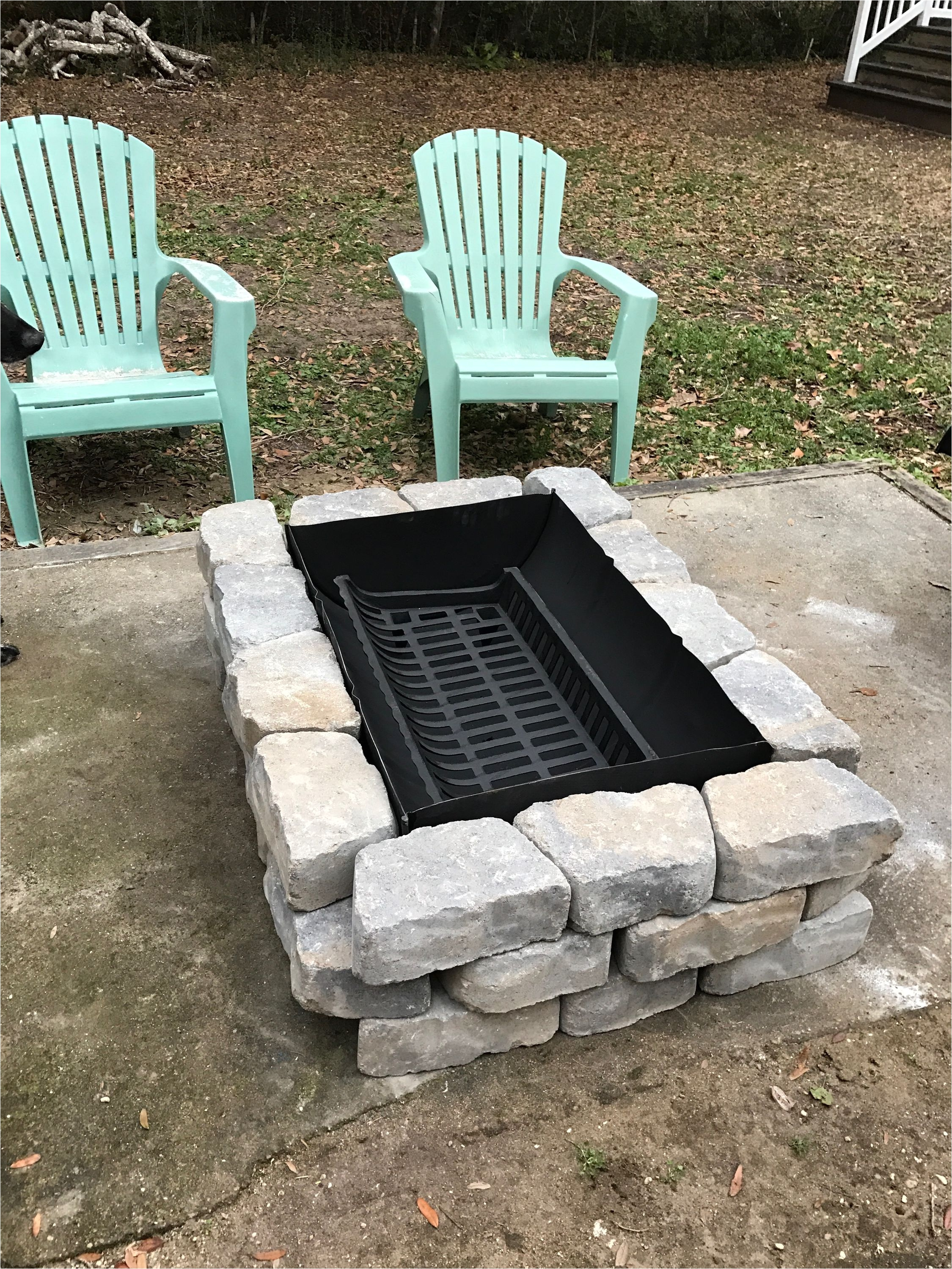55 Gallon Drum Outdoor Fireplace Inexpensive Fire Pit Made From A 55 Gallon Drum A Grate From