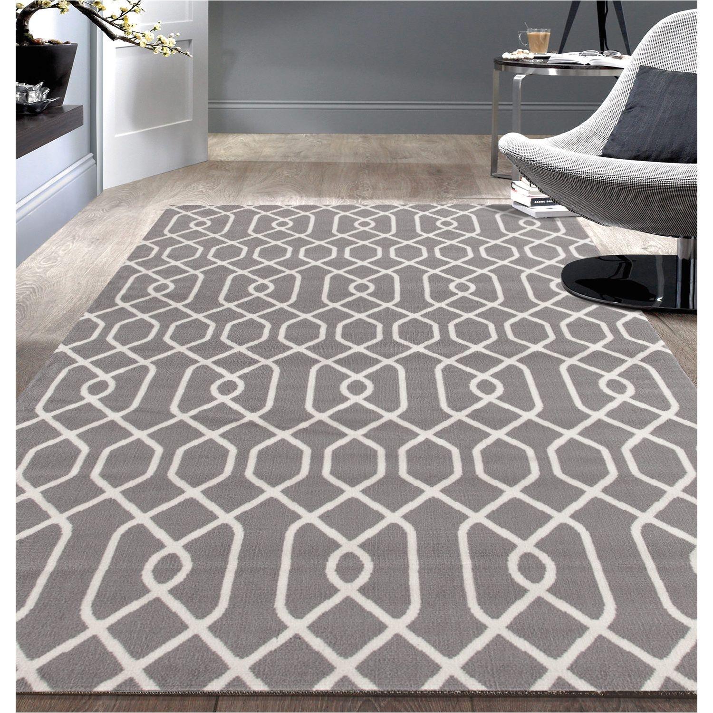 5 7 Area Rugs Under 50 Modern Trellis Pattern Grey Area Rug 7 6 9 5