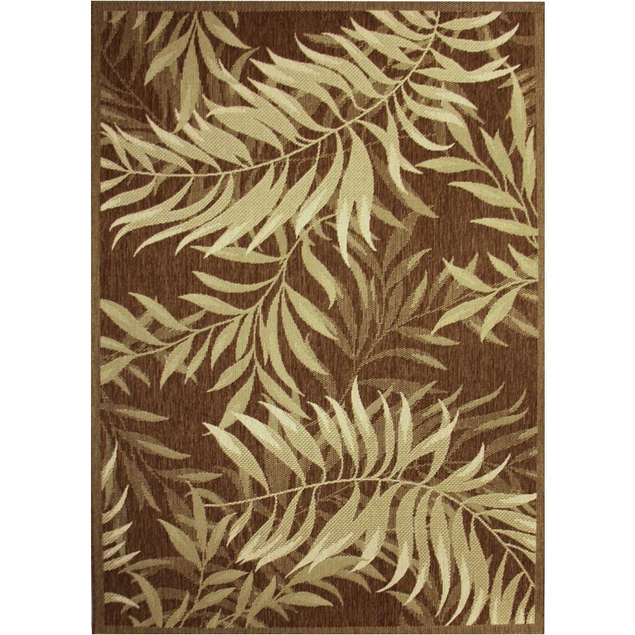 palm leaf havanah rectangular machine made nature area rug common 5 x 7