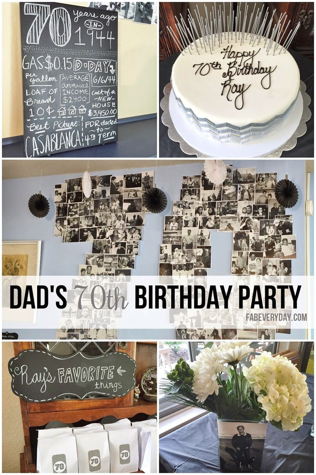 65 Birthday Decorations Canada Milestone Planning My Dad S 70th Party