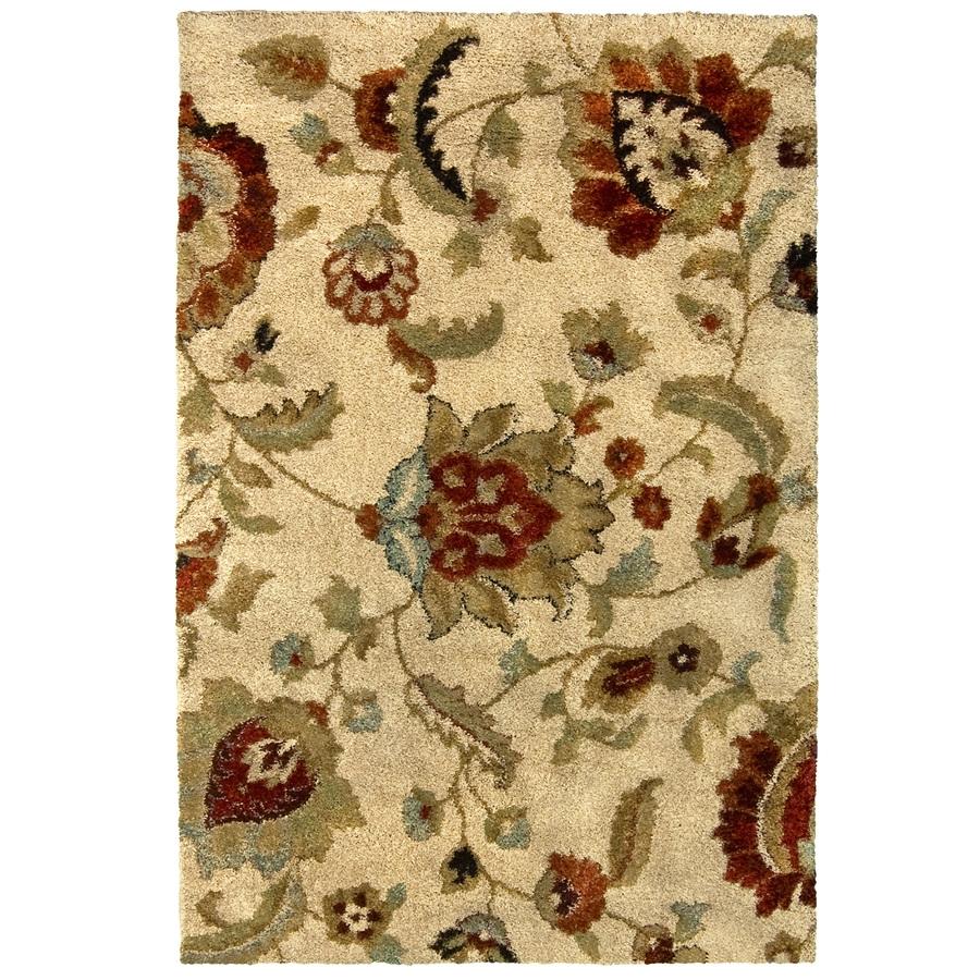 allen roth cliffony cream beige almond indoor area rug common 8