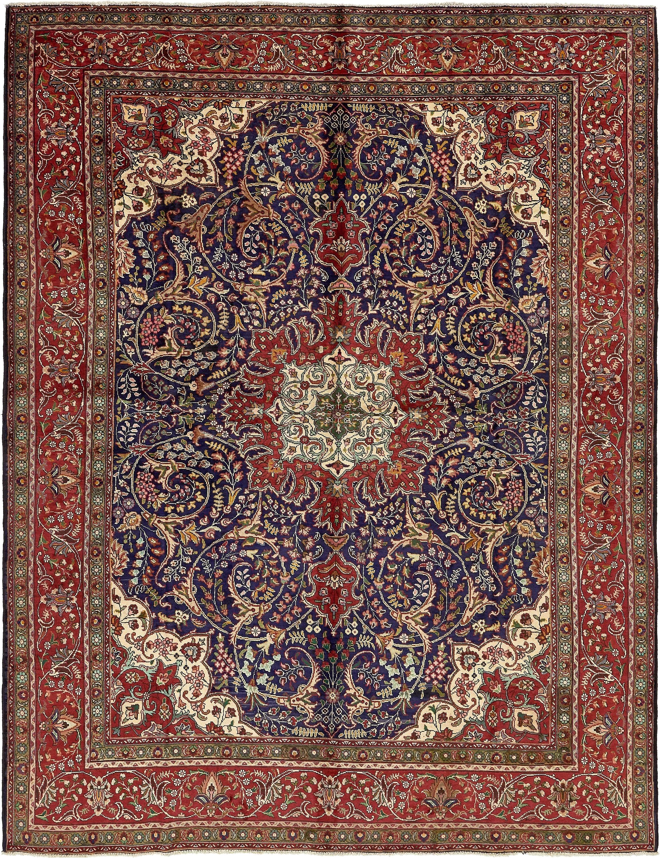 navy blue 9 9 x 12 10 tabriz persian rug persian rugs