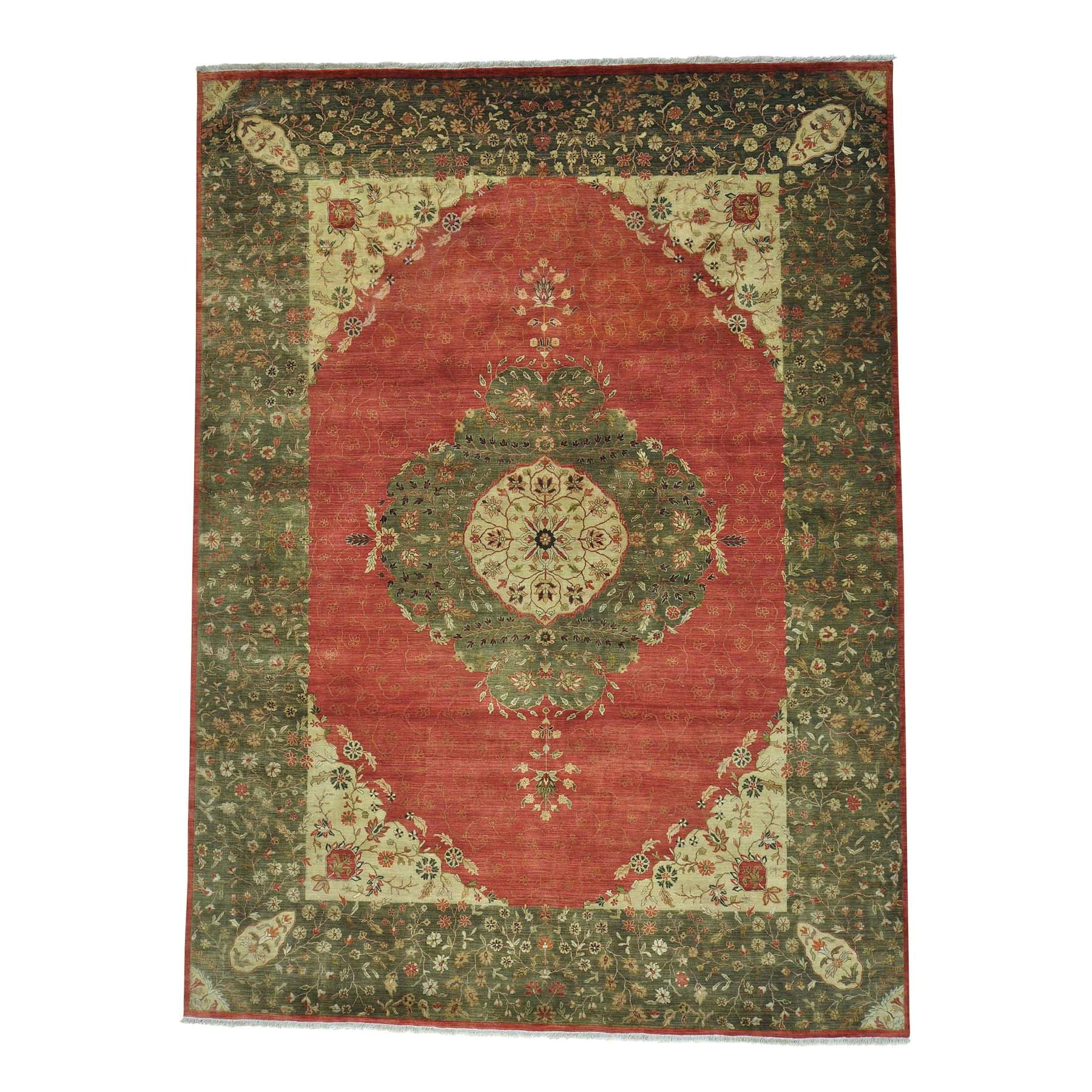 9 x12 2 antiqued tabriz 300 kpsi vegetable dyes handmade oriental rug sh28128