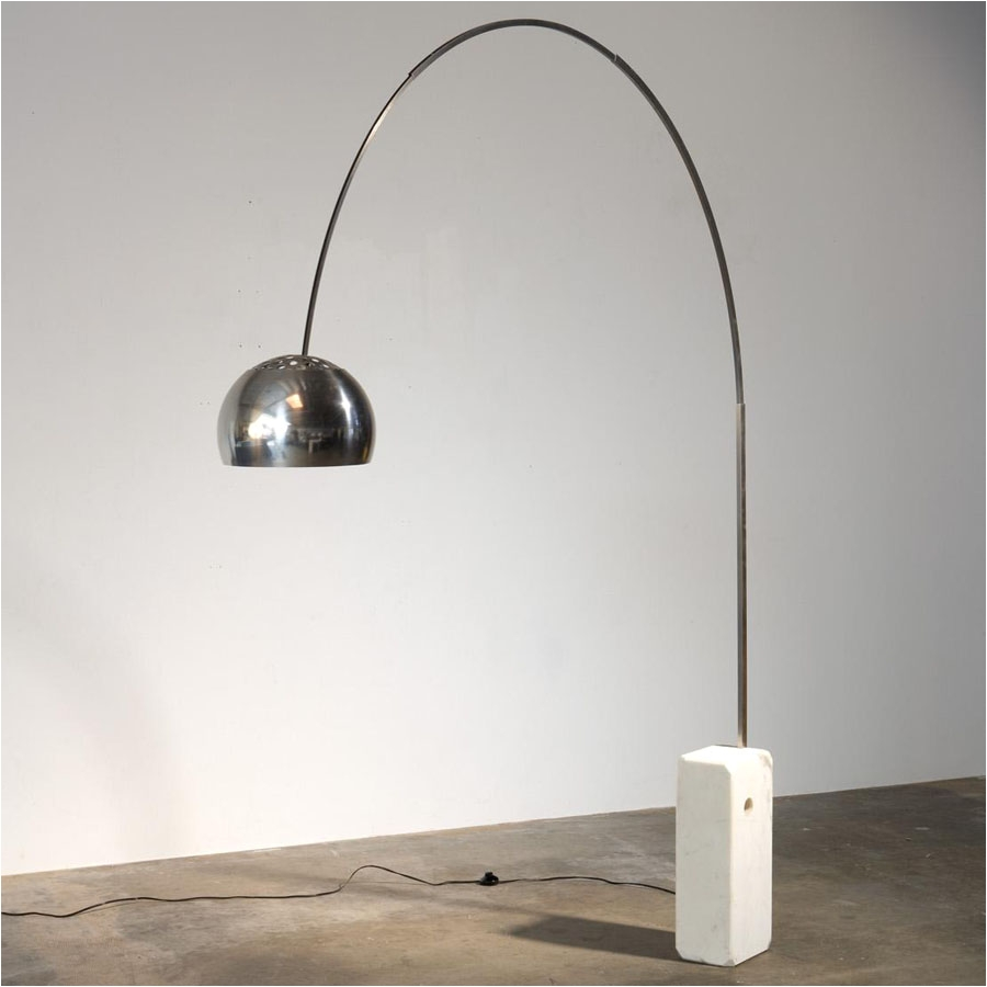 flos arco original floor lamp by achille castiglioni marble