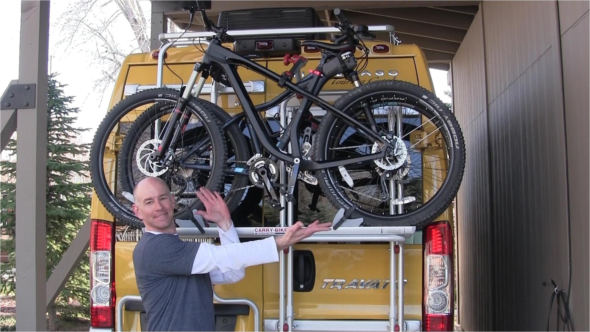 using the fiamma rv bike rack