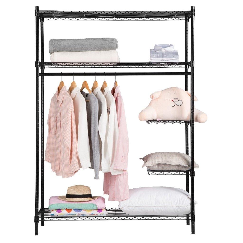 wardrobe racks wire shelving garment rack alera wire shelving garment rack silver silver impressive black