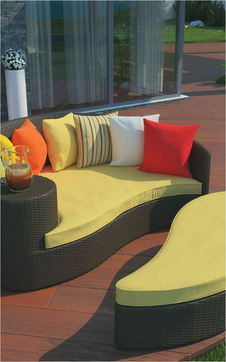 taiji outdoor brown orange patio daybed overstock shopping great deals on lexington modern chaise lounges