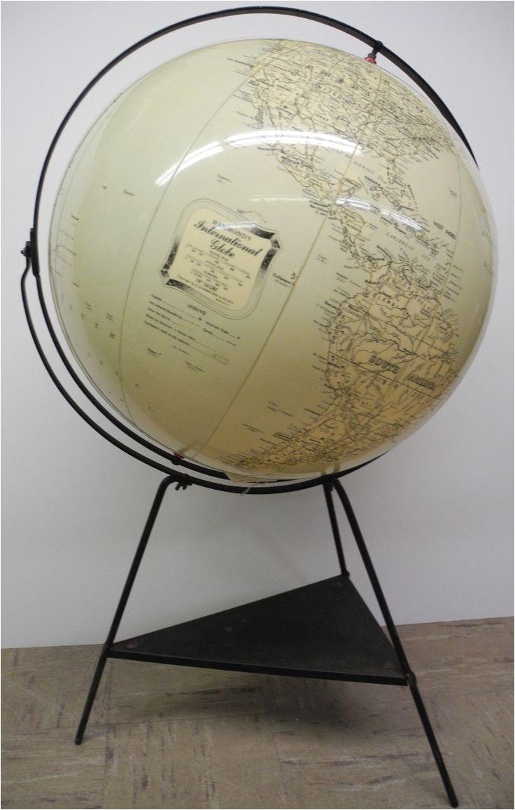 hammond s international globe globe large inflatable globe on black metal floor stand globe maker c hammond co published c hammond co