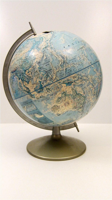 rand mcnally globe vintage world globe