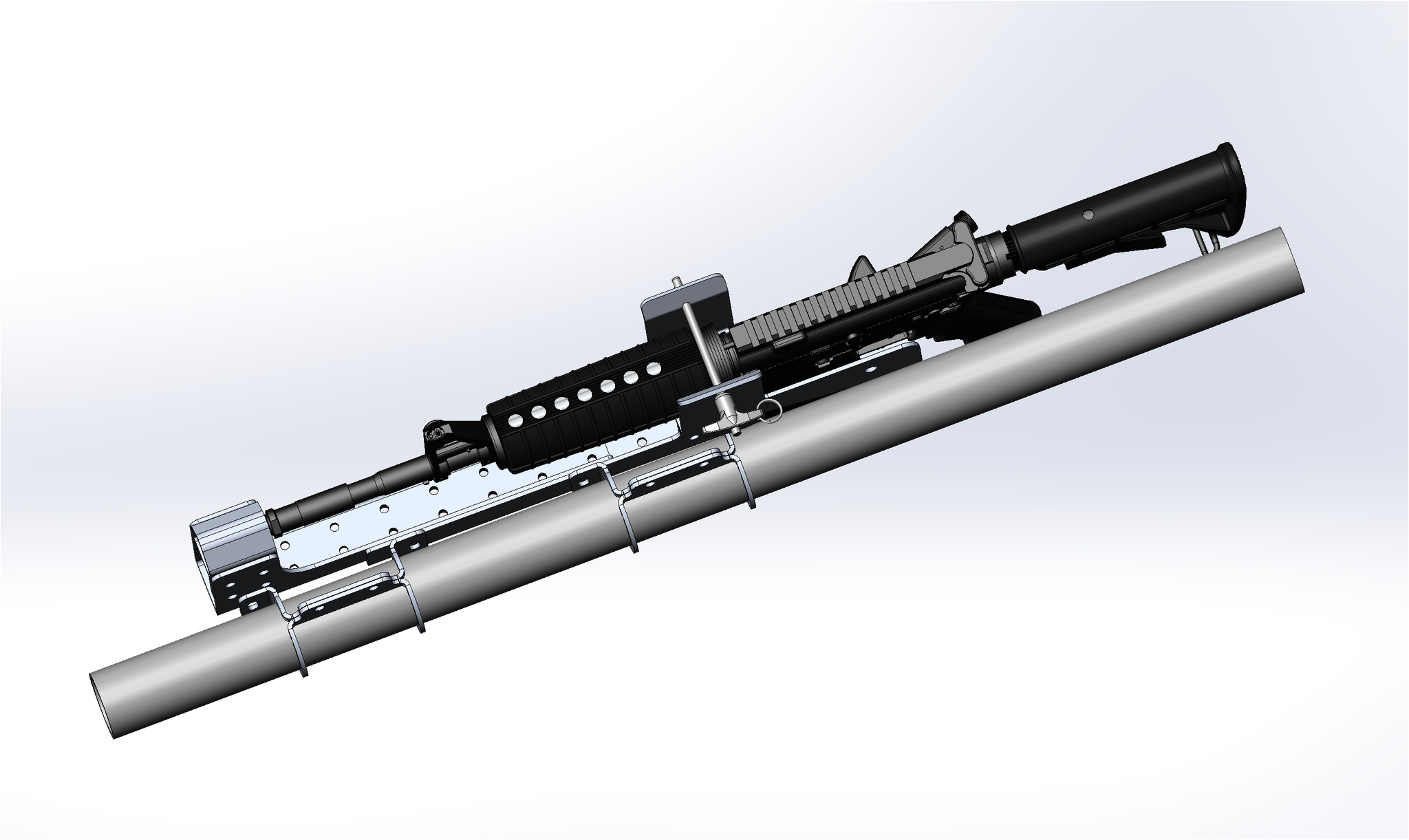 polaris utv ar 15 rifle mount