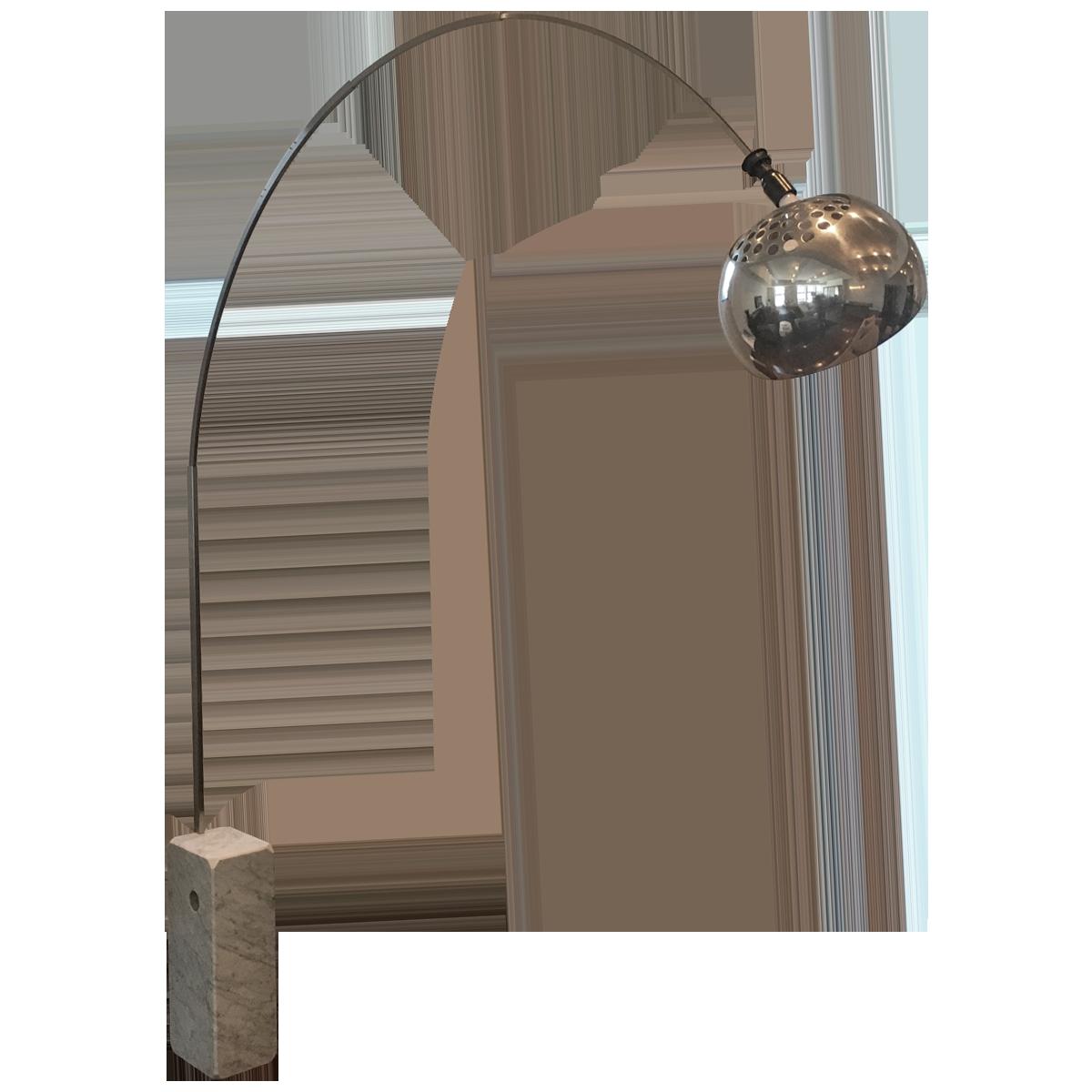 flos achille castiglioni arco floor lamp front