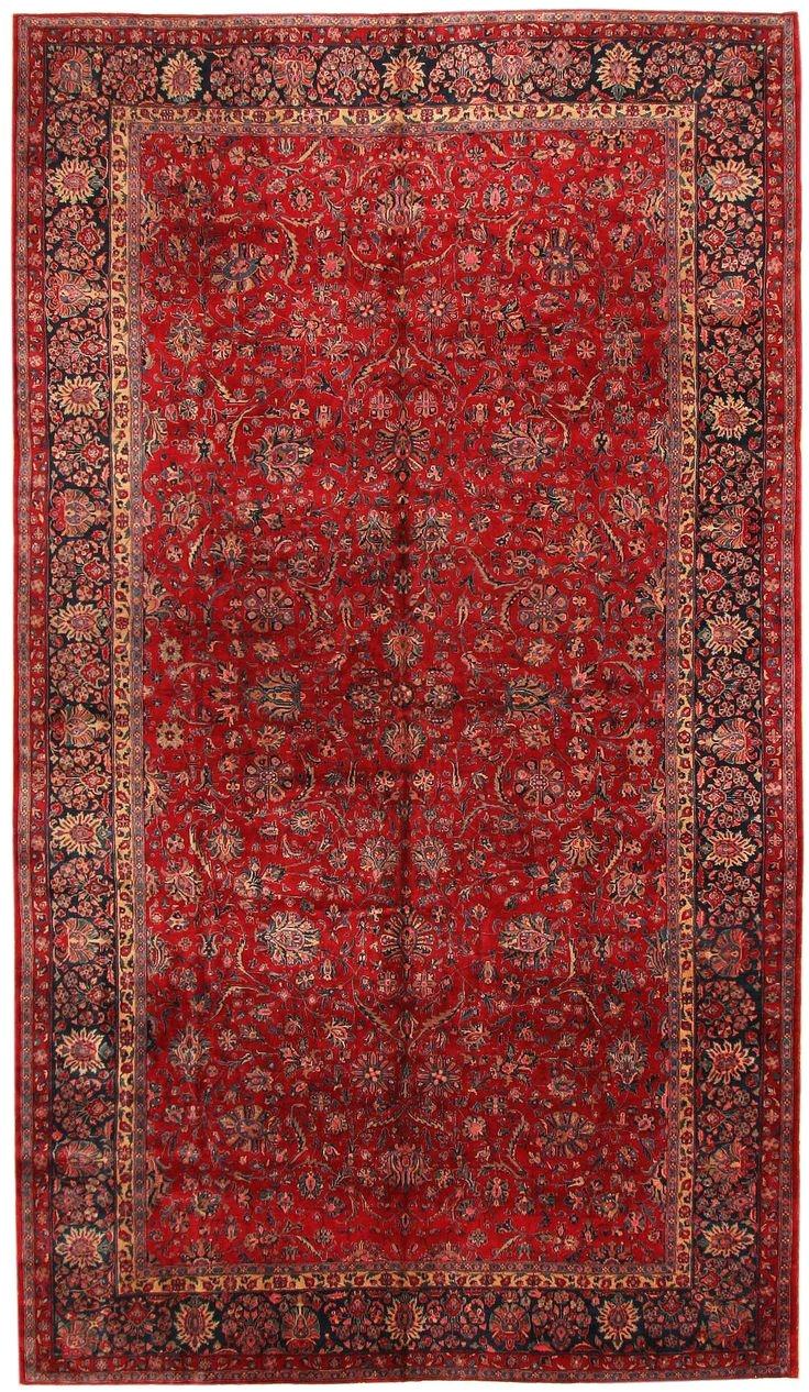 antique kashan persian rug 43573 nazmiyal collection