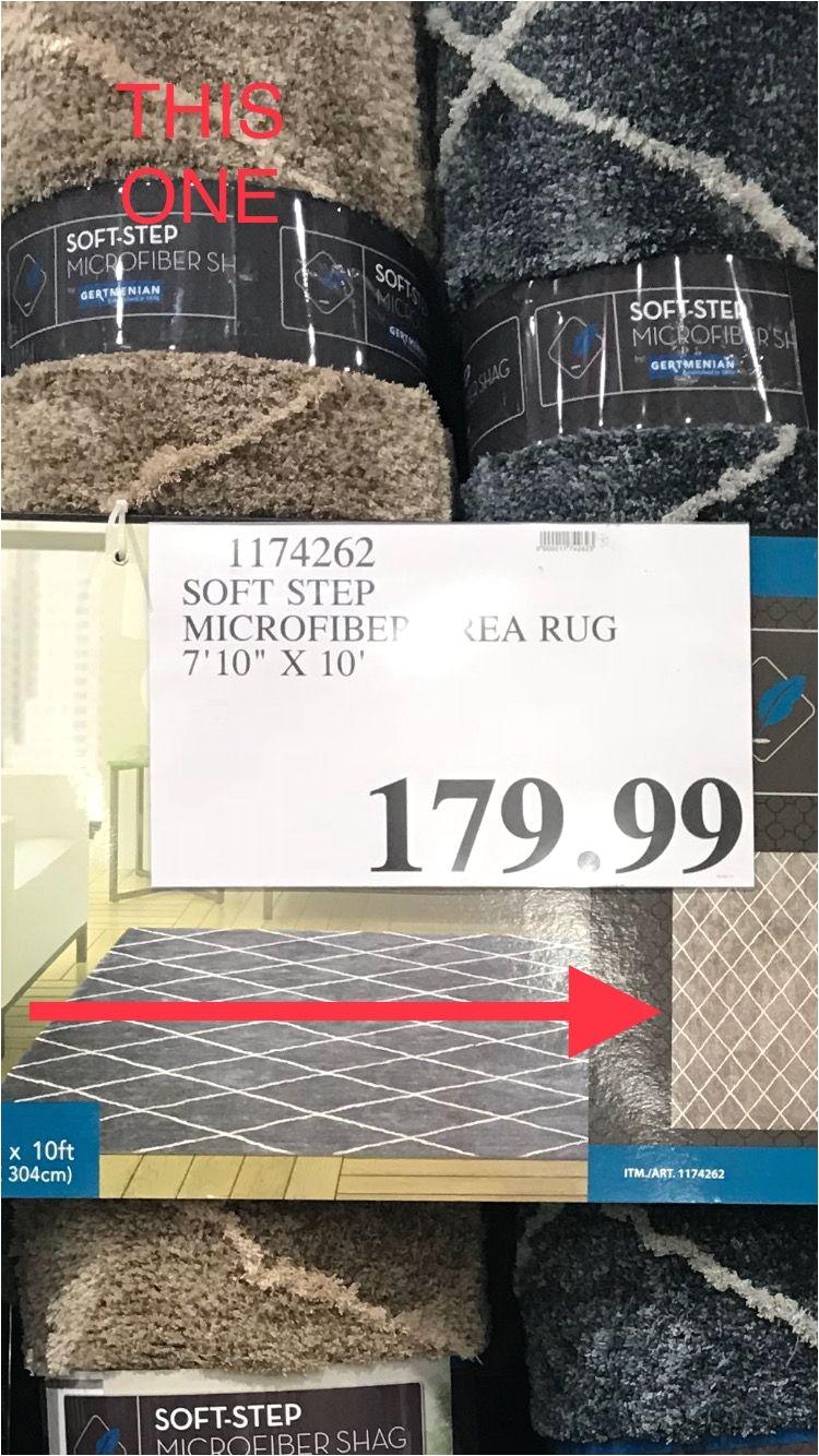 7 10 x 10 beige soft step microfiber rug at costco on