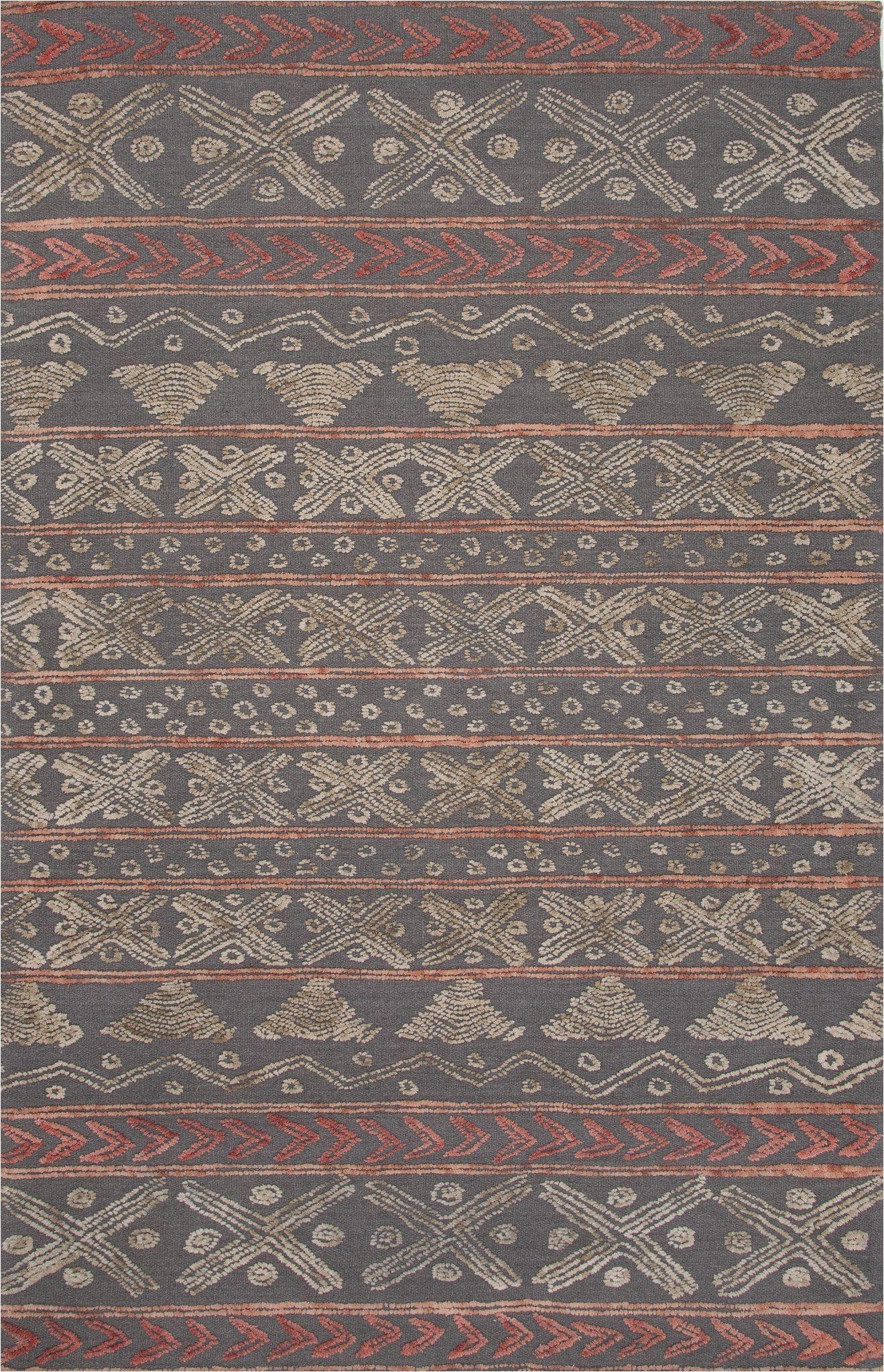 jaipur rugs modern tribal pattern gray wool area rug sti03 rectangle