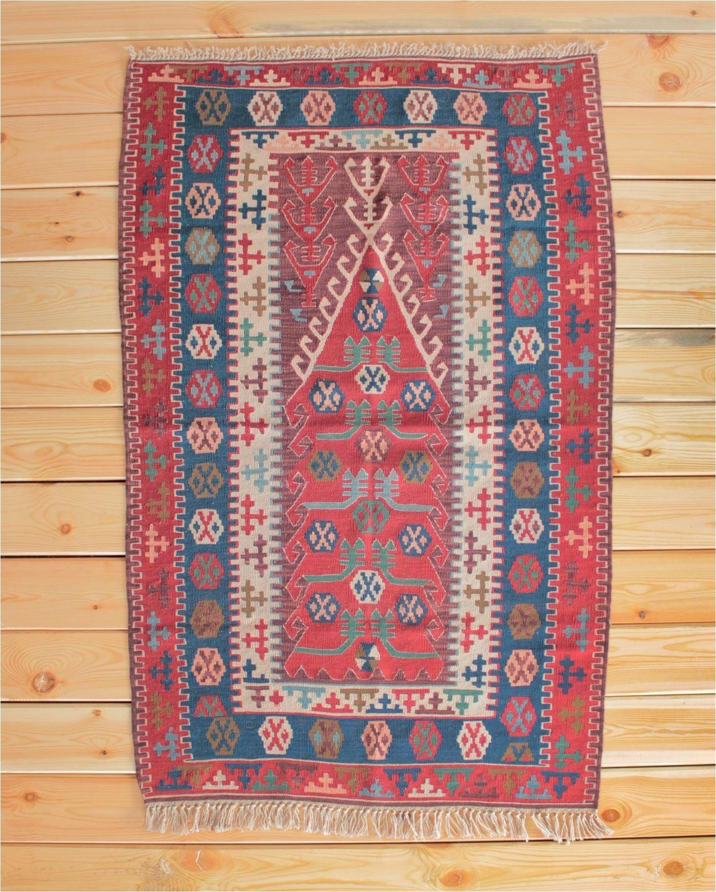 turkish rug turkish kilim rug 3 54 x 5 47 ft kilim ottoman area rug boho decor red rug home rug boho rug unique rug wool rug red kilim rug
