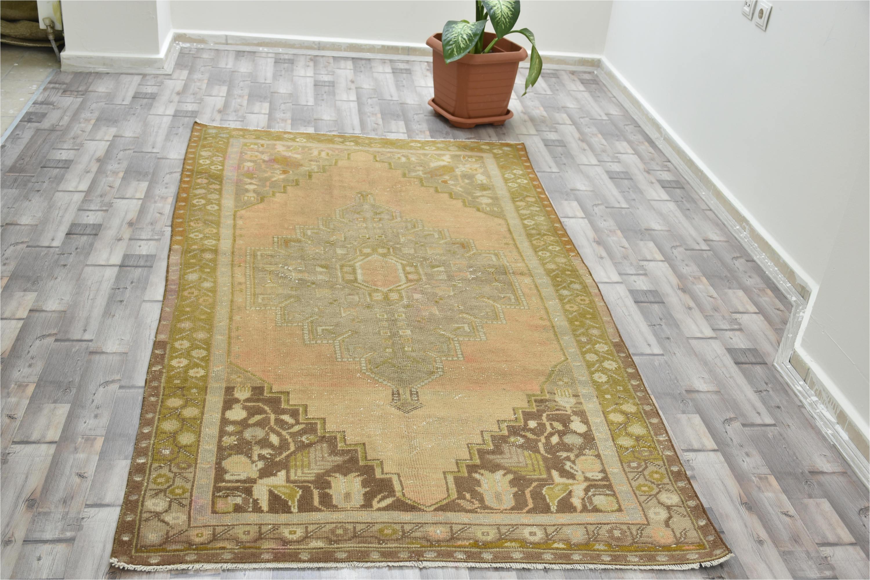 Aztec Print Rug Australia Vintage Oushak Rug Turkish Handwoven Pale Color Rug Carpet