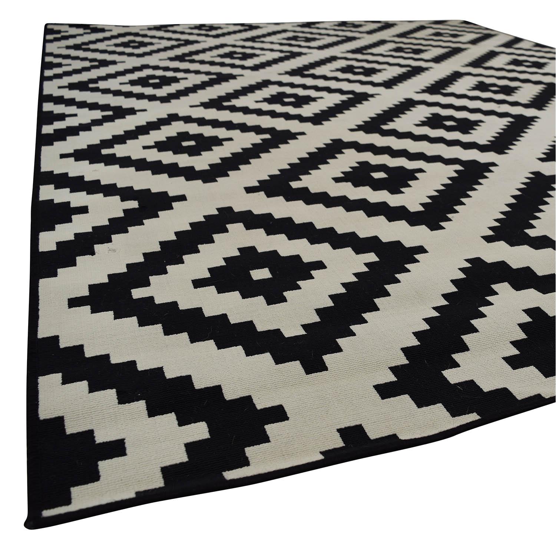 ikea ikea black and white geometric carpet rugs