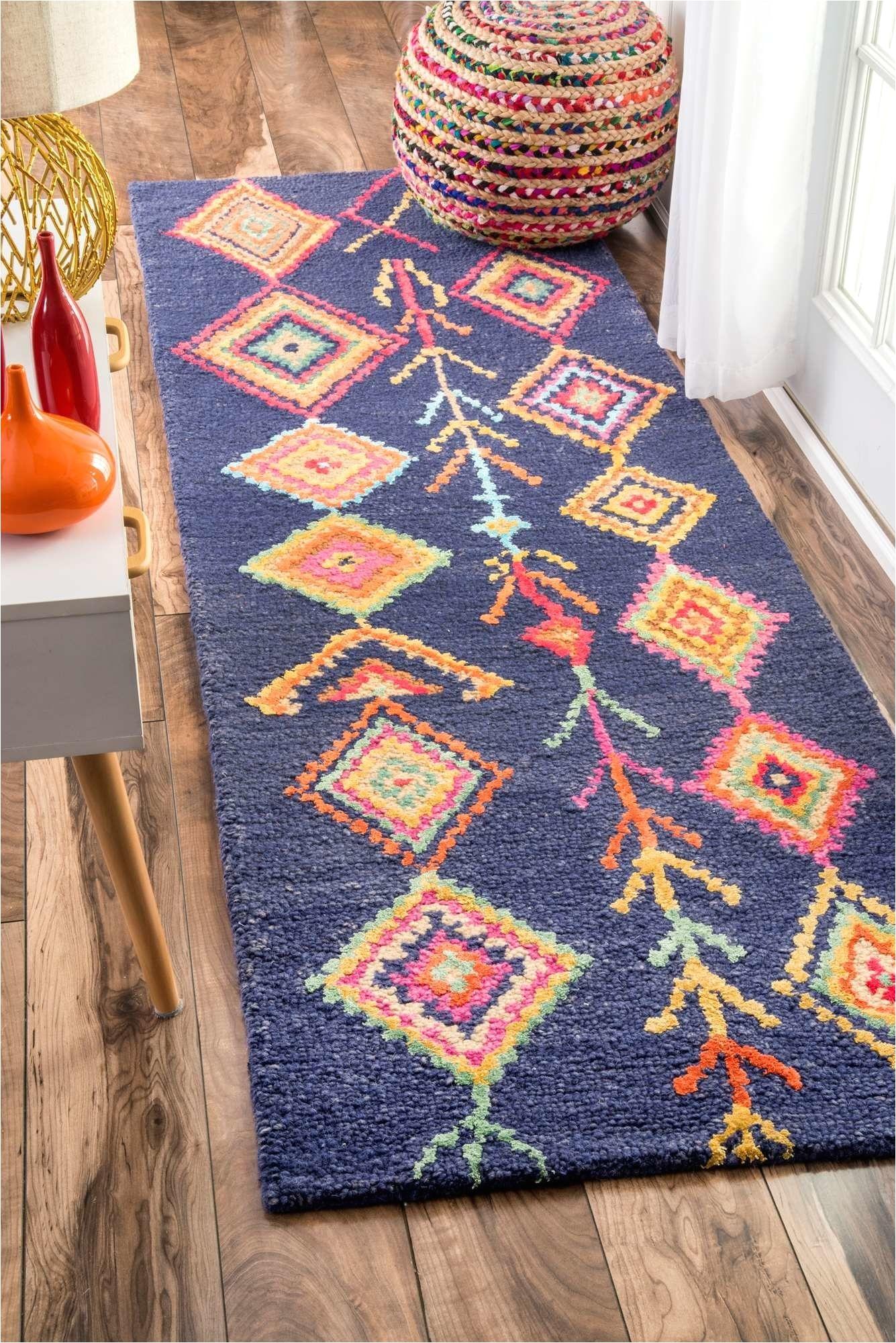 leif hand tufted blue area rug