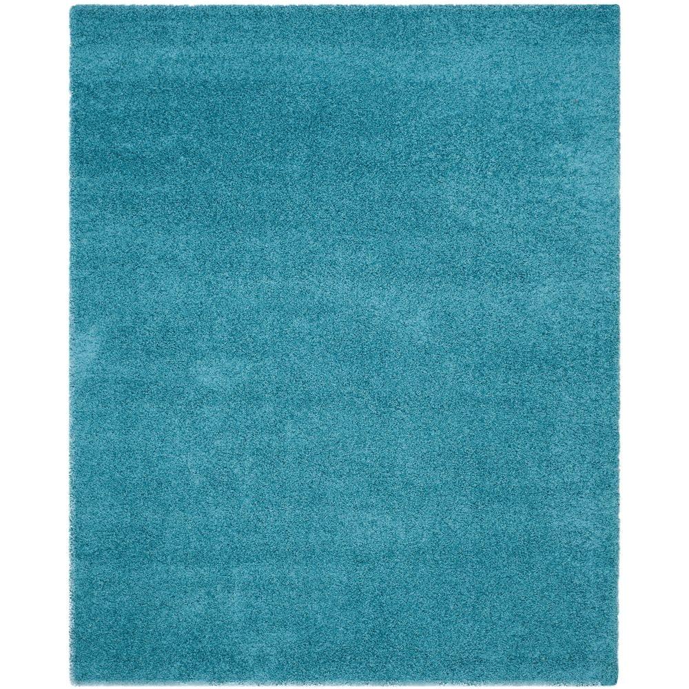 safavieh laguna shag turquoise 8 ft x 10 ft area rug