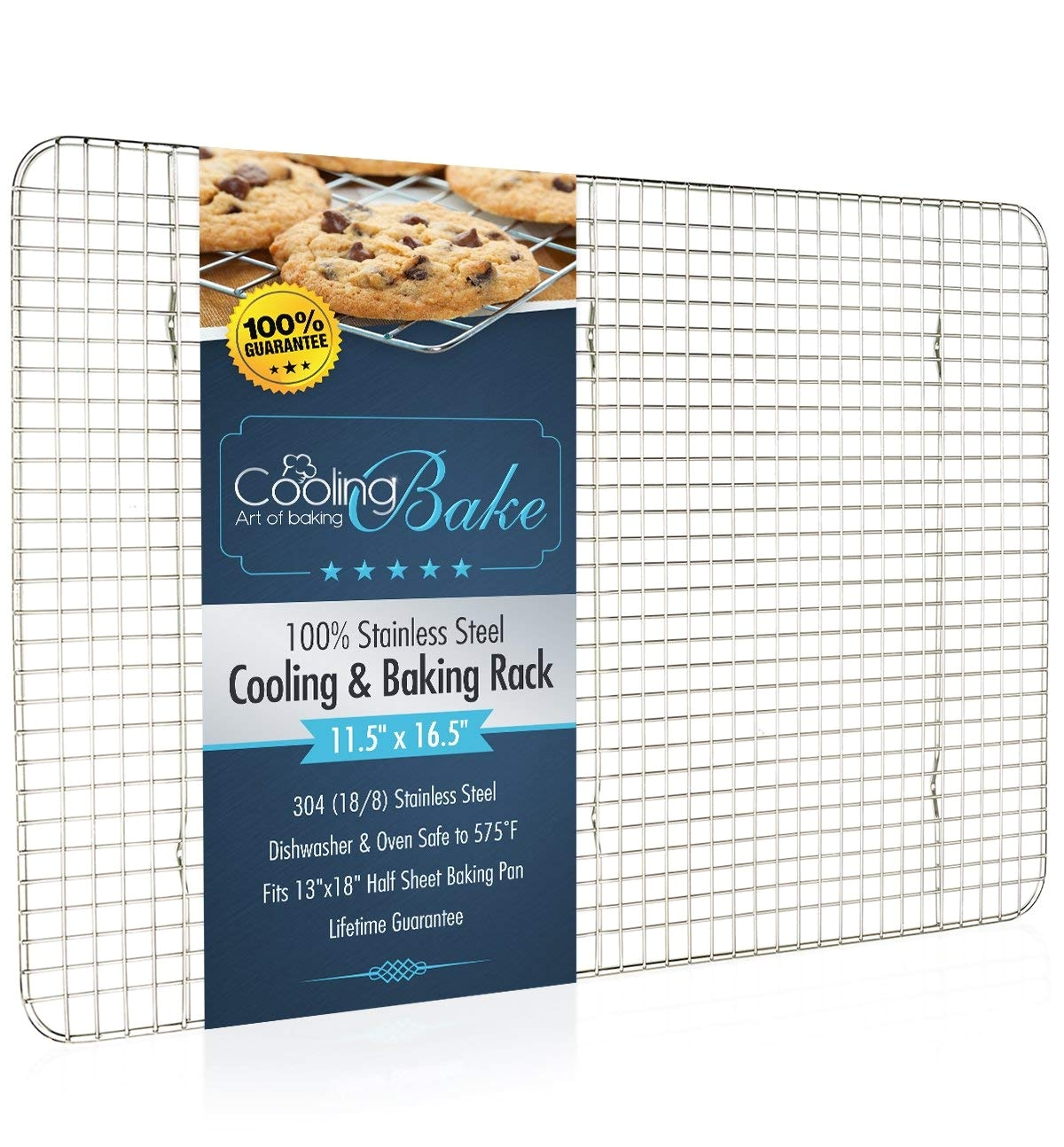 amazon com coolingbake stainless steel wire cooling and baking rack oven safe rust resistant heavy duty 11 5 x 16 5 kitchen dining